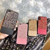 Glitter Bling caso de telefone para i6 / 7/8 Plus Moda tampa bonito Estrela de brilho Pó Telefone Soft Case TPU Coque