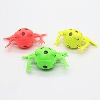 Анти-стресс Squeeze игрушка милый лягушка сетки болотистый мяч для ребенка Дети день рождения подарок игрушки три цвета 1 9xt BB