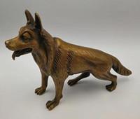 Statue archaize en laiton chien artisanat statue