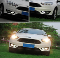 2pcs DRL Para Ford Focus 4 2015 2016 diurno DRL correndo luzes com virar amarelo Signal estilo do carro função