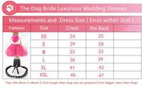 كلب الأميرة اللباس جرو كلب BOWKNOT فستان الزفاف بلينغ بلينغ الملابس S M L لفتاة أنثى الكلاب الصغيرة والمتوسطة