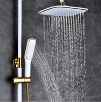 5 têtes de douche carrée en or et en noir