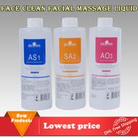 Solução da casca do Aqua 3 garrafas / 400ml pela garrafa Soro facial do Aqua Hydra Hydro Peeling facial para a pele normal Microdermabrasion