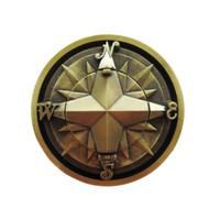 Nueva brújula chapada en bronce Vintage Star Belt Buckle Gurtelschnalle Boucle de ceinture