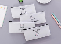 Delicate student pen bag freehand sketching animal school pe...