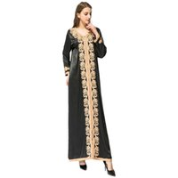 10 ADET Dubai Abaya Kaftan Türk Müslüman Boncuk Nakış Kadınlar uzun elbise İslam Abayas ve Jilbabs Musulmane Vestidos Giyim Ücretsiz DHL