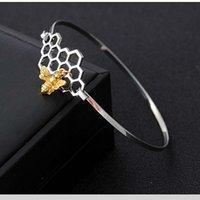 Cute Honeycomb Bracelet Beehive Honey Bee Link Chain Fashion...