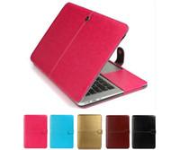 Moda PU Couro Laptop Case Para Novo MacBook Air Pro Retina 11.6 12 13.3 15.4 Polegada Ultrabook Capa Capa de Capa