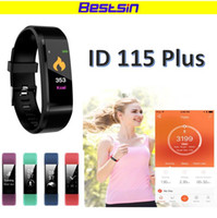 Bestsin ID115 Plus Smart Wristband Fitness Bracelet Heart Ra...