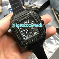 44MM World brand luxury men' s wristwatch full black dia...