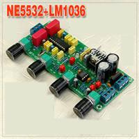 Freeshipping LM1036 + NE5532 Préamplificateur Stéréo Préamplificateur Tone Board Conseil Amplificateur Audio