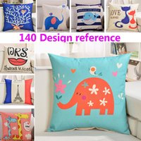 140 Design Linen Animal Pillow Case Cover Car Home Cushion P...