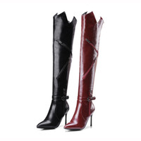 Boots for woman 2018 above the knee from the flock women&#03...