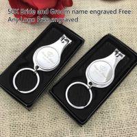 Персонализированные свадебные сувениры для гостей индивидуальные свадебные сувениры многофункциональный открывалка / брелок / кусачки для ногтей
