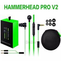 Hammerhead Pro V2 oyunu Kulaklık kulak kulaklık Mikrofon Ile Perakende Kutusu Ile Kulak Oyun kulaklıklar Gürültü İzolasyon Stereo Bas 3.5mm