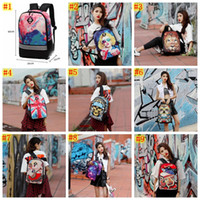 9 colori Fashion 3D Flower Printing Zaino per ragazze Designer Teenage Floral zaino Casual bambini Bookbag Donne Backbag da viaggio MMA516