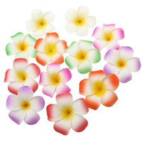 Wholesale 3. 5 Inch Hawaiian Plumeria Flower Hair Clip Foam H...