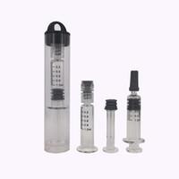 Kunststoffschlauchverpackung GLass Injector 1ML Einweg-Verdampferstift Co2-Öl-Luer-Lock-Spritze mit Messmarkierung Für vape-Patronen