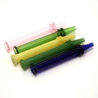 Heißer Verkaufs-Glasfilter Tipps für trockene Kräuter Tabak RAW Blättchen mit Tabak Zigarettenspitze Pyrexglas Rund Flach Mouth Filter Tips