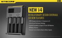 기존 Nitecore I4 디지타이저 LCD 지능형 회로 글로벌 보험 리튬 이온 18650 14500 16340 26650 배터리 충전기 20pc / lot