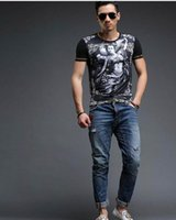 2018 футболка мужская горячая распродажа футболки новая мода дизайн европа с коротким рукавом