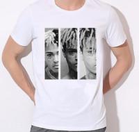 Mens Hip Hop Swag Rapeler XXXtentaCion Print T-shirt Summer Blanc T-shirt Homme Unisexe Mode Tops Tee Regardez-moi