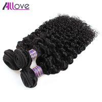 Kinky Curly Virgin Extensions de Cheveux En Gros Pas Cher 8A Cheveux Brésiliens Trames 5Bundles Non Transformés Indien Péruvien Indonésien Malaisien Faisceaux de Cheveux Humains