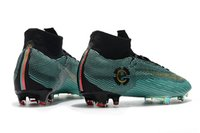 Nuevos zapatos 2018 CR7 Soccer Shoes Superfly VI Elite FG Teal Color High Quality Wholesale Sports FG Zapatos de fútbol Tamaño de EE. UU. 6-11