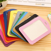pu leather id Tags set working permit bus Card employee'...