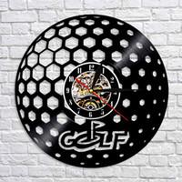 1Piece Golf Ball registro relógio de parede criativa Tempo Modern Clocks Personlized Handmade Artesanato Wall Art Decor Para Golf Club