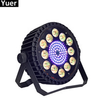 LED Flat Par 12x10W RGB Color Lighting Strobe DMX per atmosfera di discoteca DJ Music Party Club Dance Floor BAR Darkening