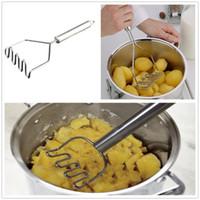 주방 가제트 스테인레스 스틸 감자 진흙 압력 진흙 기계 감자 Masher Ricer 주방 야채 도구 액세서리
