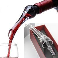 Pourers vinho Aerador Vinho Tinto Aerating Pourer Mini Magia Garrafa De Vinho Tinto Decanter Ferramentas De Filtro De Acrílico Com Caixa de Varejo DHL Livre WX9-245