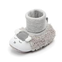Bebé First First Walking Boots Newborn Infantil Piso Invierno Super Caliente Slight Slight Baby Cuna Botines Zapatos Zapatos de dibujos animados Cordero