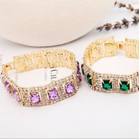 2018 nuovi produttori di gioielli di moda che vendono combinazione lucida pietra Reno cristallo braccialetto donne regali di nozze B021