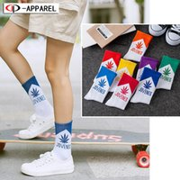 AuturnWinter Ahornblatt Brief Socken lange Mode Socken Männer Skateboard Hiphop Meias Frauen Unisex Socken