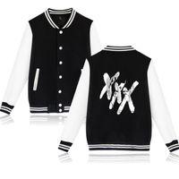 Moletom XXXTENTAcion Kurtka baseballowa Mężczyźni Jahseh Dwayne Onfroy Hip Hop Rapper Cardigan Męskie Bluzy Bluzy Baseball Uniform