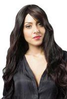 Synthetische wellenförmige lange Perücken für Schwarz-weiße Frauen 28inch High Heat-Faser wie Menschenhaar Perruque Peruca Perücken peruk Locken Begradigen Permed