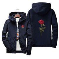 yizlo Роза куртка ветровка мужчины женщины jaqueta masculina колледж куртки
