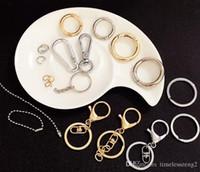 Ganci per moschettoni di alta qualità con ganci portachiavi accessori per catene chiave in lega di materiali per gioielli in oro e schegge varietà di portachiavi