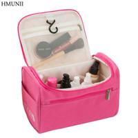 Hmunii النساء سفر ماكياج حقيبة متعددة الوظائف حقائب التجميل البوليستر الأزياء ماء تخزين أدوات الزينة حقيبة منظم الرجال حالة HM-01