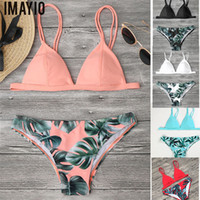 Swimsuits Women Floral Printed Bikini Set Bandage Swimwear S...