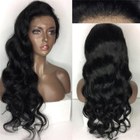 Human Hair Wigs Indian Hair Lace Front Wig Full Lace Wavy Ha...