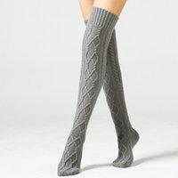 Qulity delle donne della ragazza inverno addensare Warm Cotton Calze coscia alta Solid calza lunga protezione della gamba