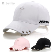 Mens Snapback Hats BTS Jimin Fashion K Pop Iron Ring Hats Ad...