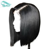 Bythair Human Hair Full Lace Wig Short Bob Wig Lace Front Wi...