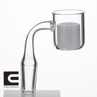 Новый разработанный тепловой banger жесткий дно с непрозрачной внутренней чашей 6 размер кварцевого Banger ногтей плоская чаша