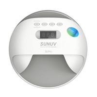 SUN UV SUN7 48 W Çift UV LED Tırnak Lambası Tırnak Kurutucu Jel Lehçe Kür Işık Alt LCD ekran ile 10 s / 30 s / 60 s / 99 s Zamanlayıcı 30 LEDS