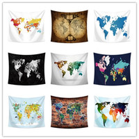 150*130CM world map tapestry wall hanging tapestry beach tow...