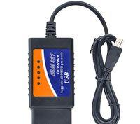 100 STÜCKE ELM327 USB Kunststoff OBDII Scanner Schnittstelle Unterstützt Alle OBDII Protokolle USB V2.1 ELM 327 OBD 16 PIN Benzin Fahrzeuge